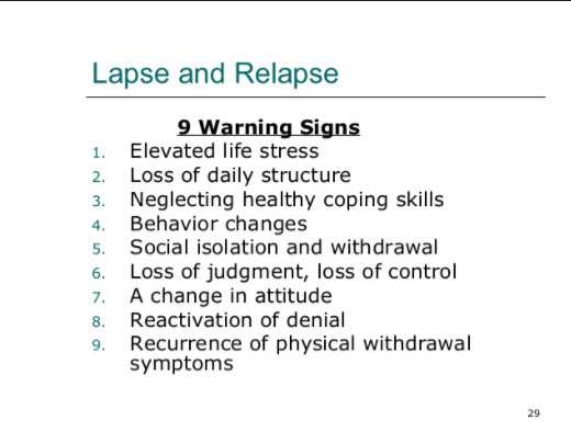 depression relapse be aware of these warning signs